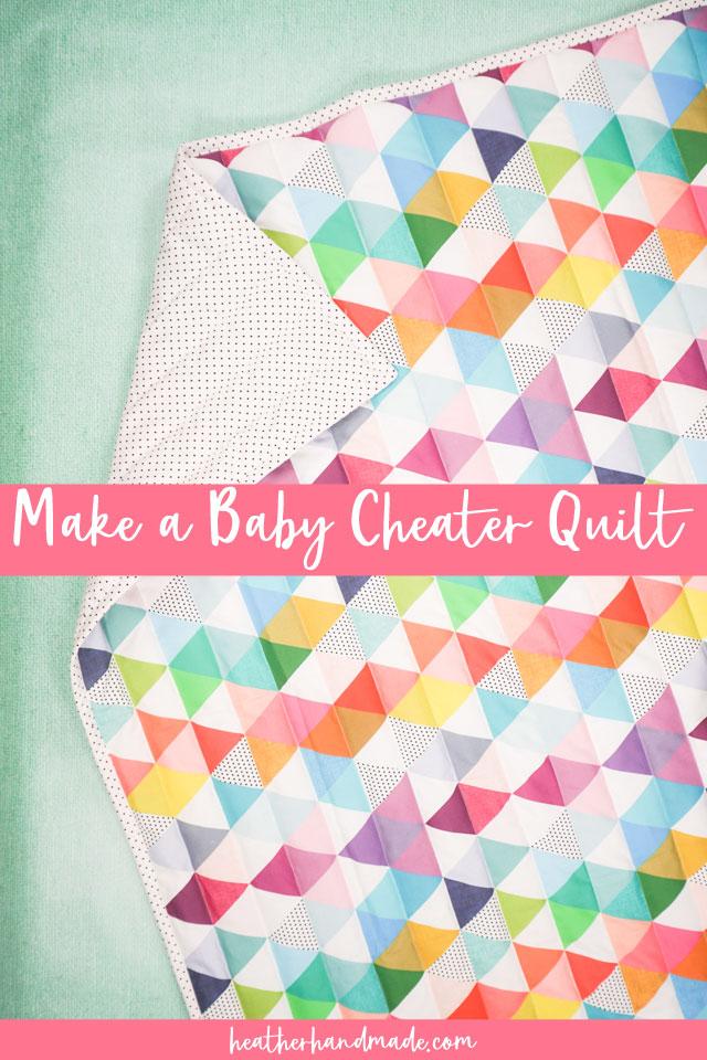 diy baby cheater quilt