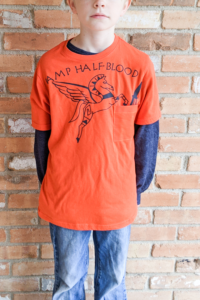 diy camp half blood t-shirt