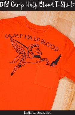 diy camp half blood t-shirt