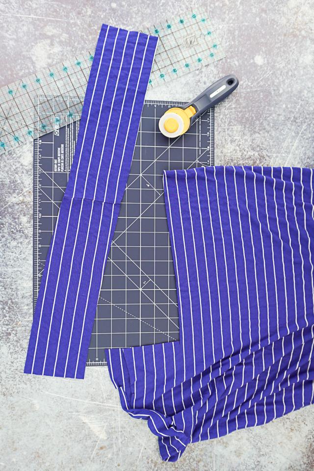 cutting jersey knit fabric