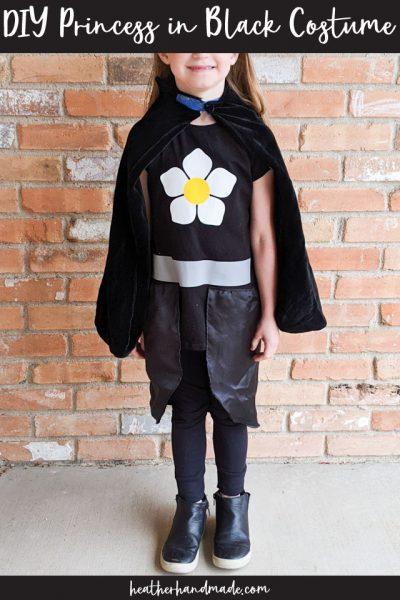 DIY Princess in Black Costume