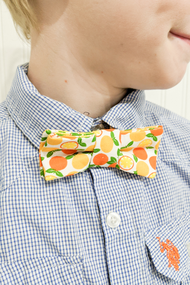 butterfly bow tie pattern