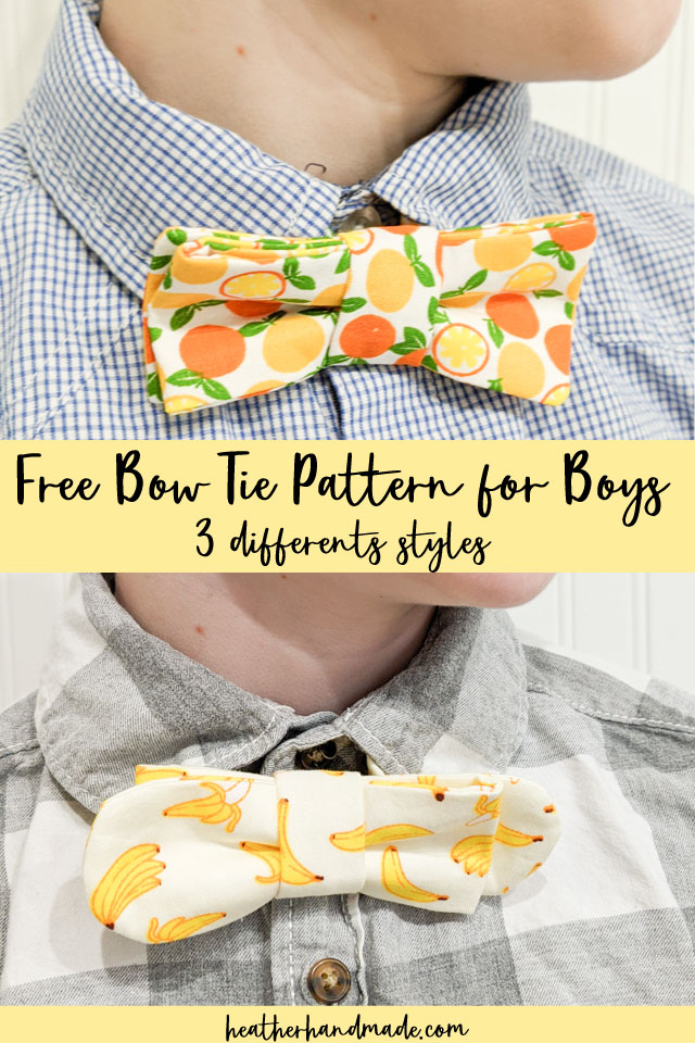 free bow tie pattern for boys