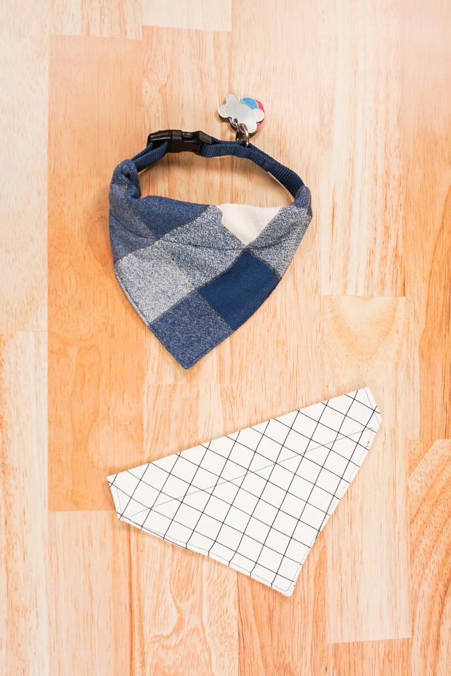 slide bandana onto collar