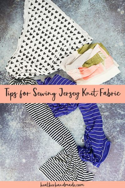 tips for sewing jersey knit fabric