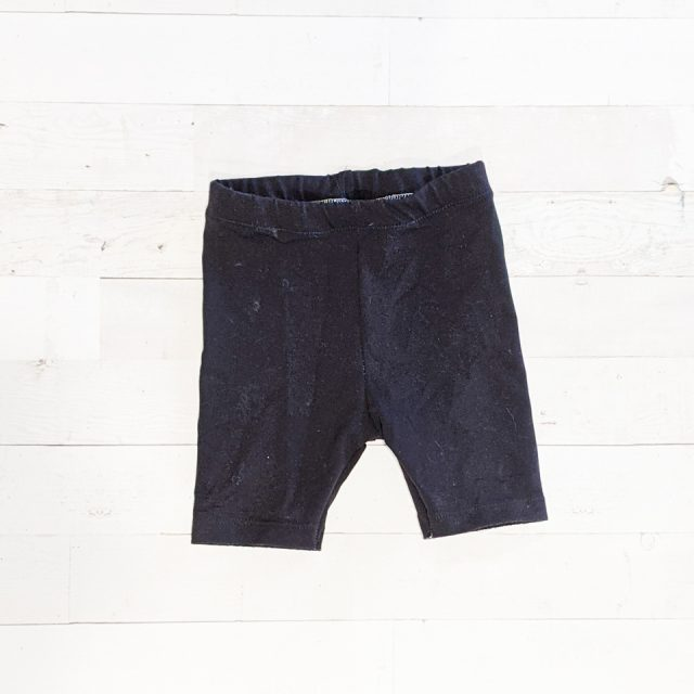 upcycled t-shirt shorts