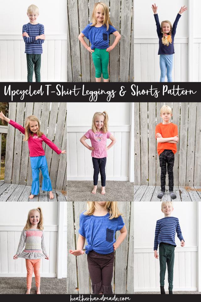 upcycled t-shirt leggings pattern
