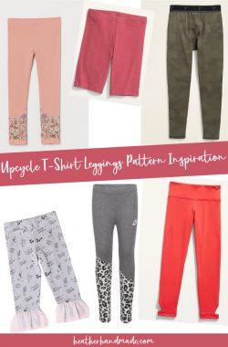 upcycled t-shirt leggings inspiration