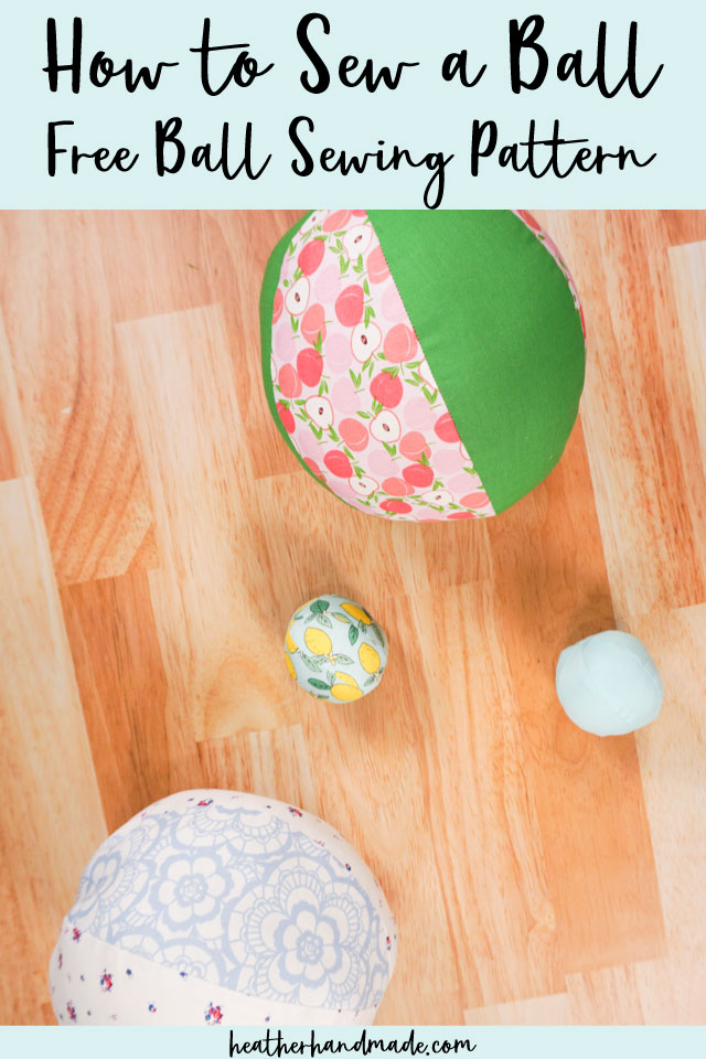how to sew a ball