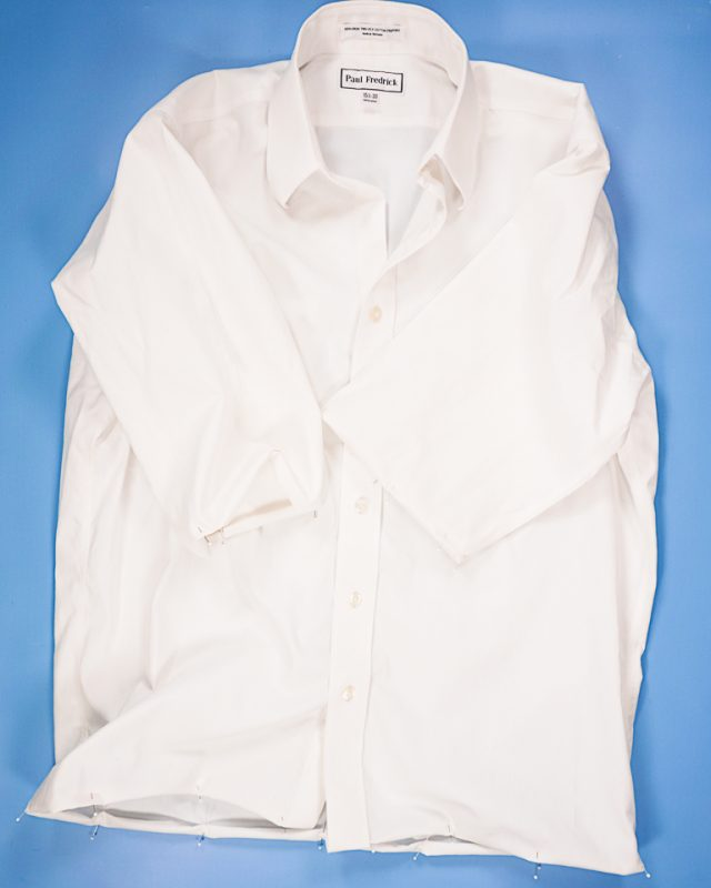 pin sleeve and shirt hem