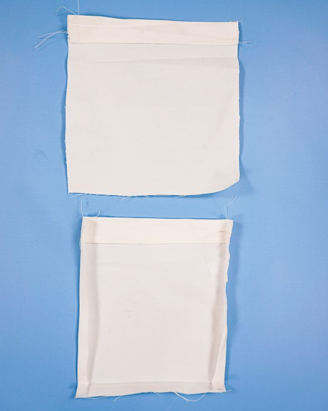 fold pocket sides and bottom in and press