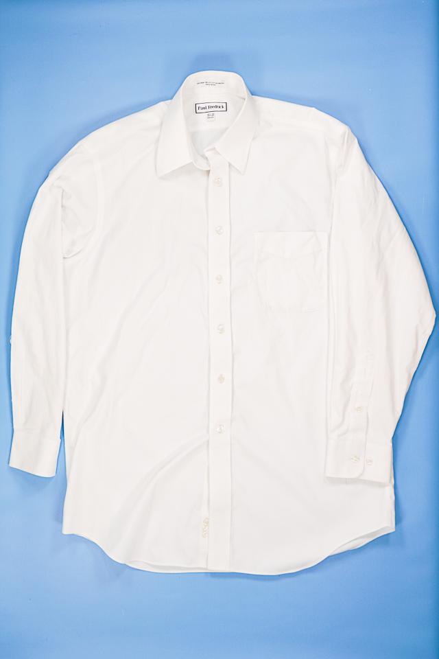 men's white button up shirt