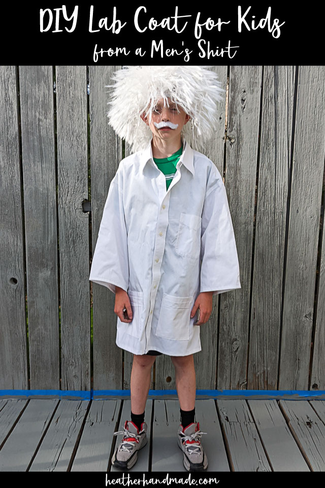 DIY Lab Coat for Kids from a Men's Shirt