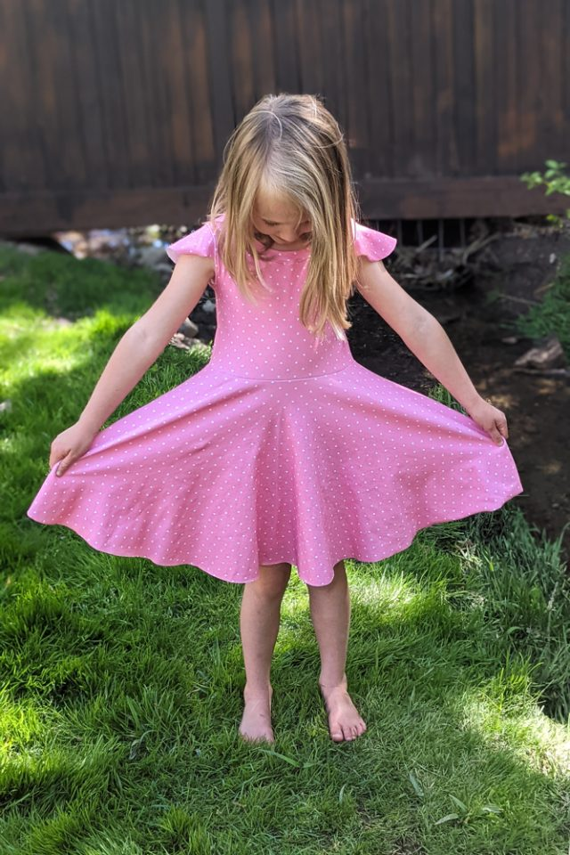 knit dress with circle skirt