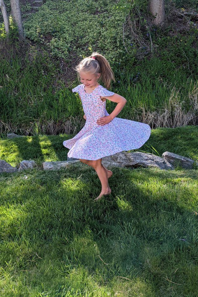 spinning skirt babydoll dress