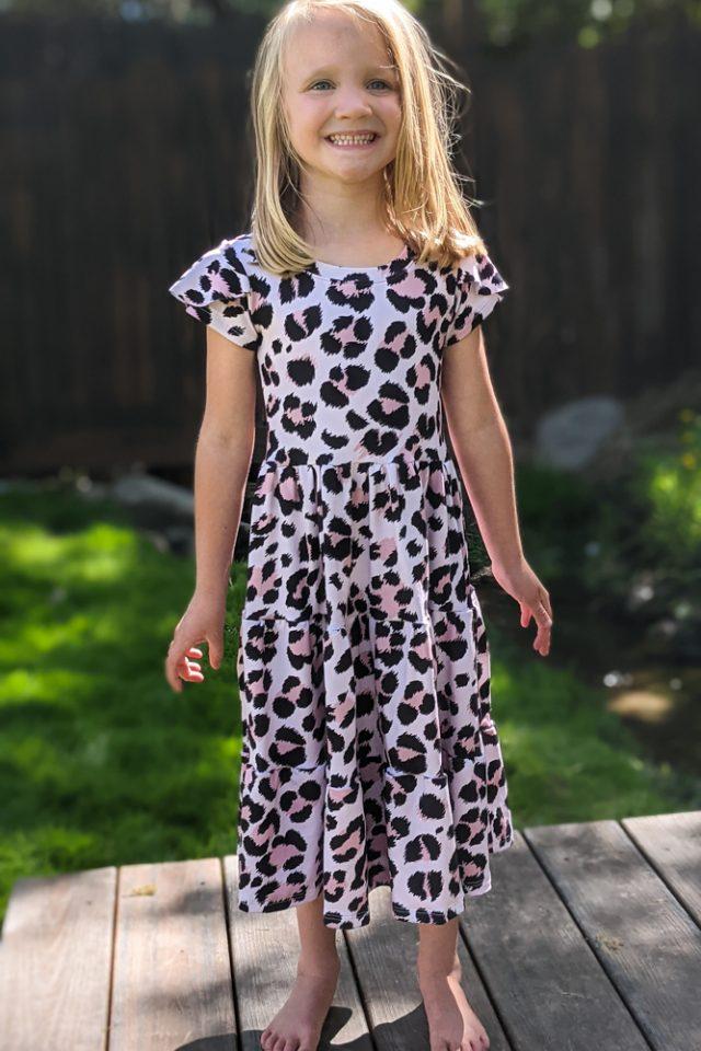 babydoll tiered dress pattern hack