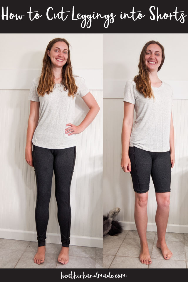 How to Cut Leggings into Shorts