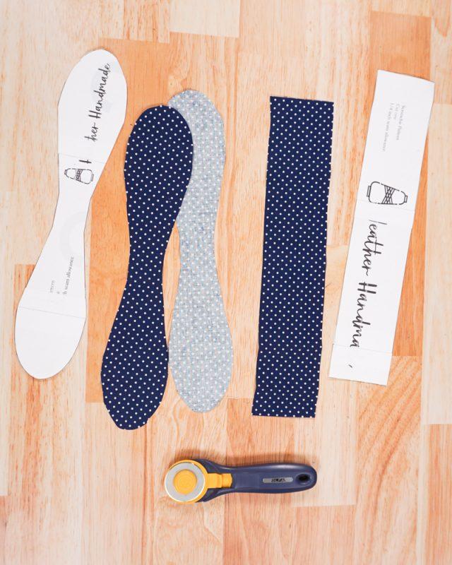 cut out scrunchie pattern pieces