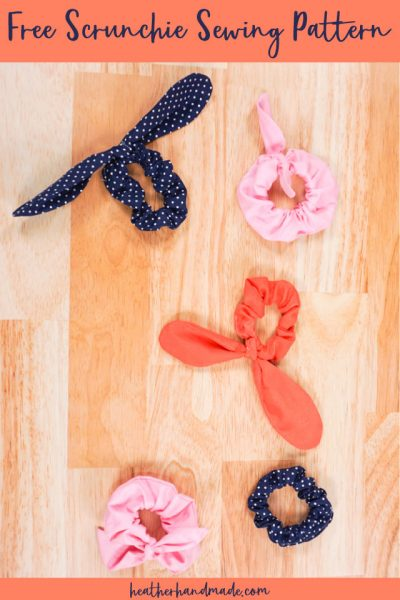 free diy scrunchie sewing pattern