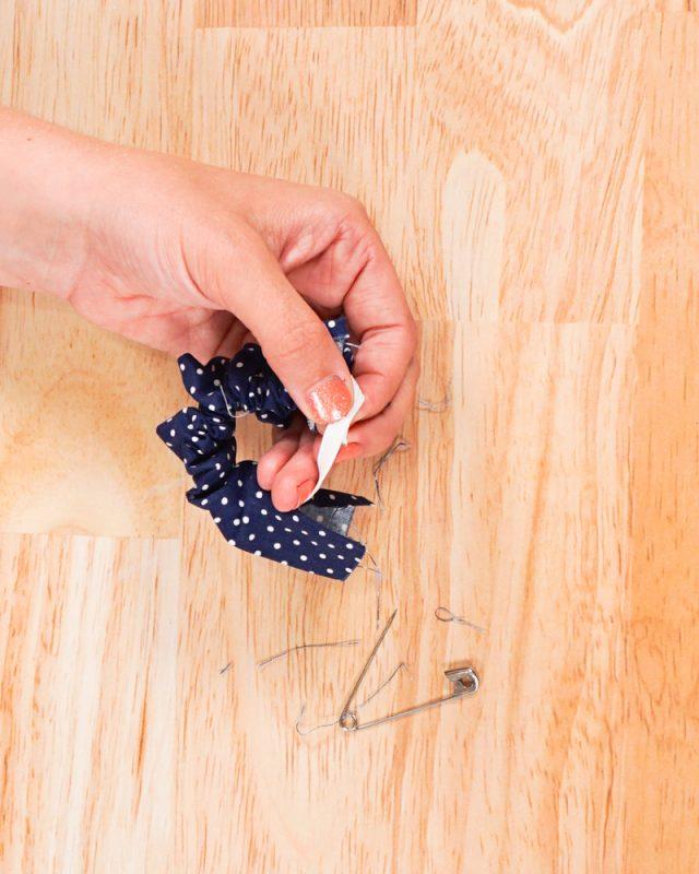 insert elastic, overlap and sew