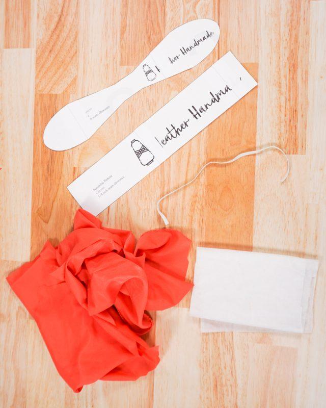How to Make a Silk Scrunchie supplies