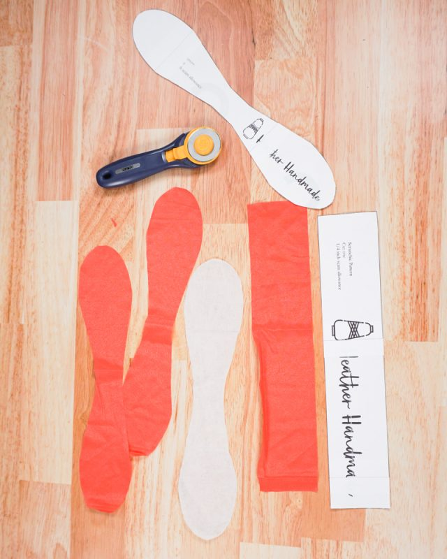 cut out pattern pieces