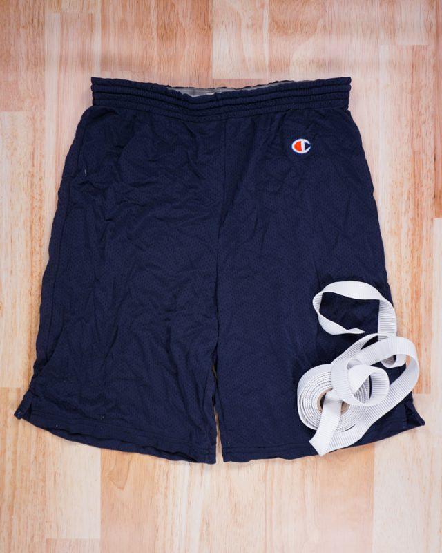 adult basketball shorts and elastic