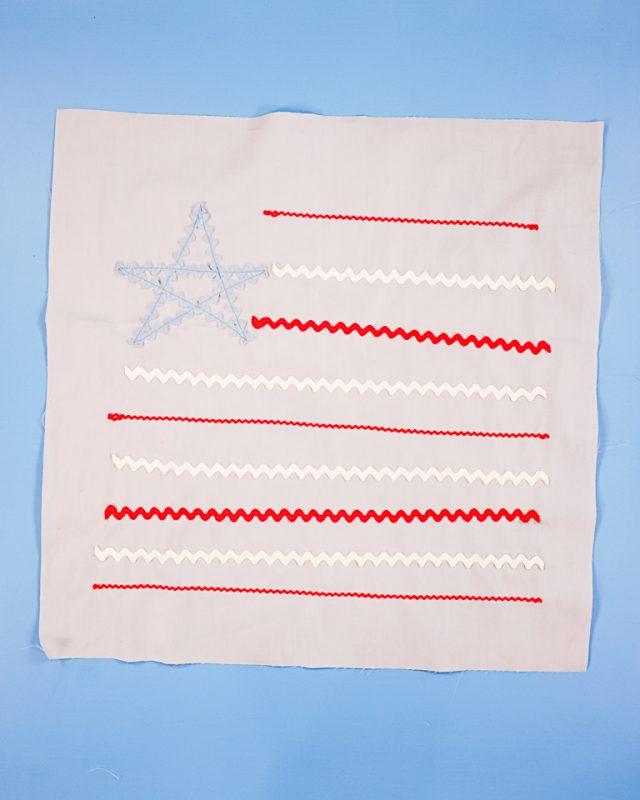 sew the rickrack on