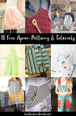 18 Free Apron Patterns and Tutorials
