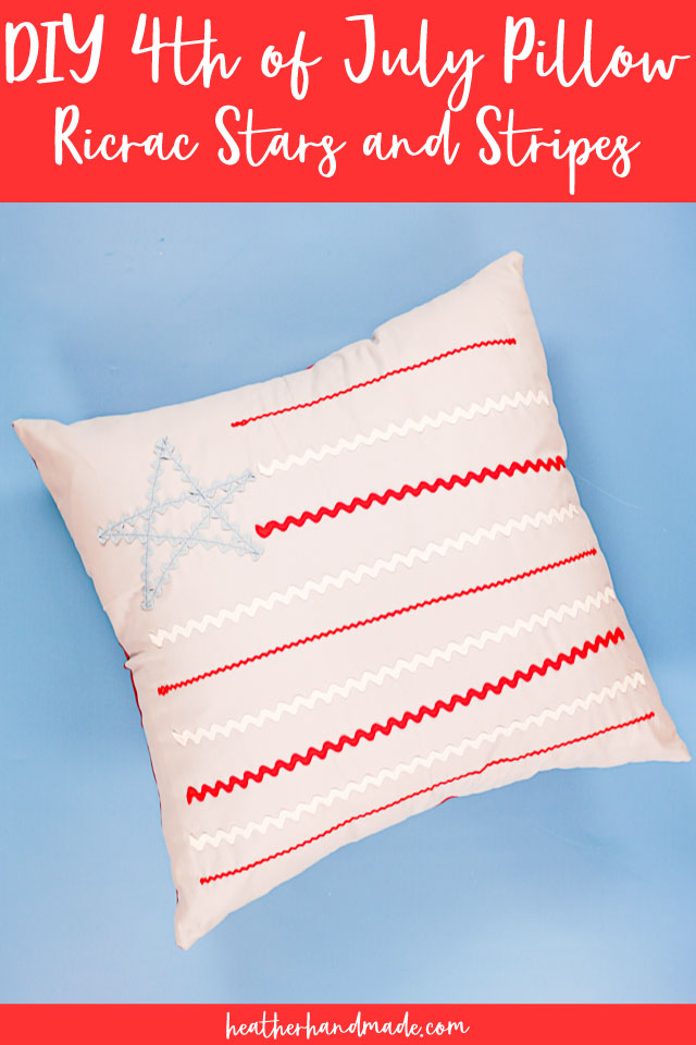 DIY 4th of July Pillow: Ric Rac Stars and Stripes