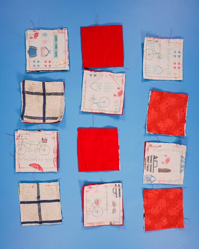 sew around square and leave hole