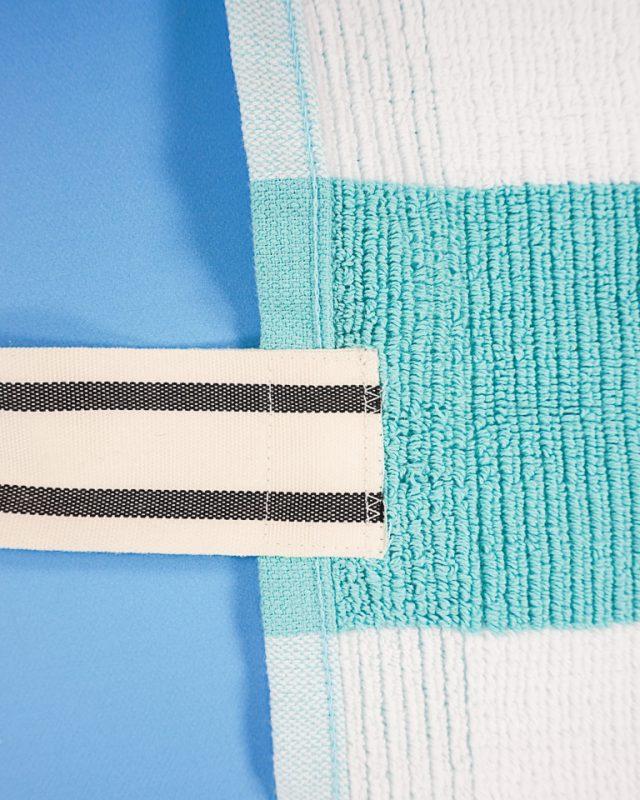 sew ribbon to towel