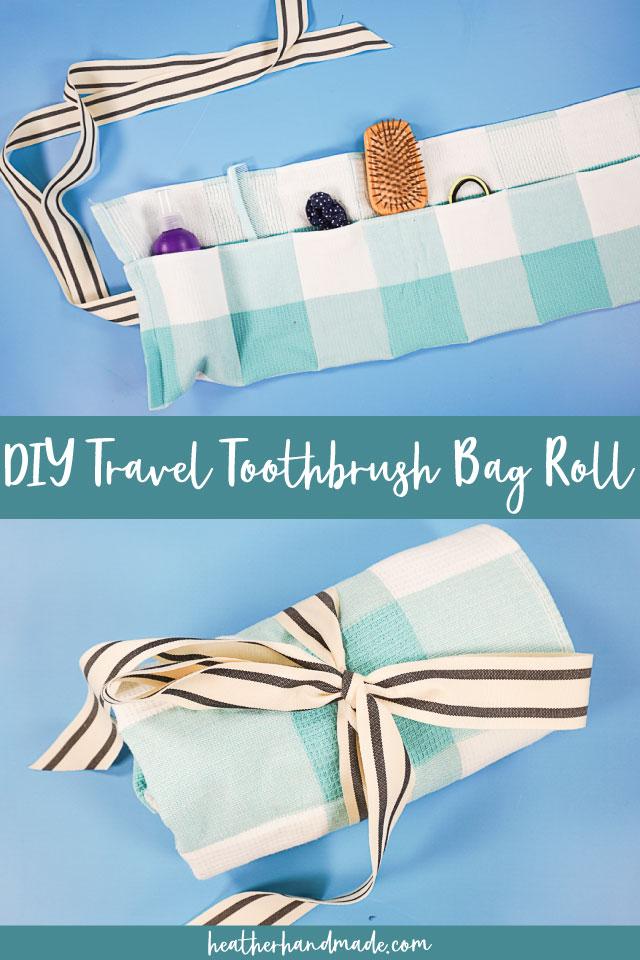 DIY Travel Toothbrush Bag Roll