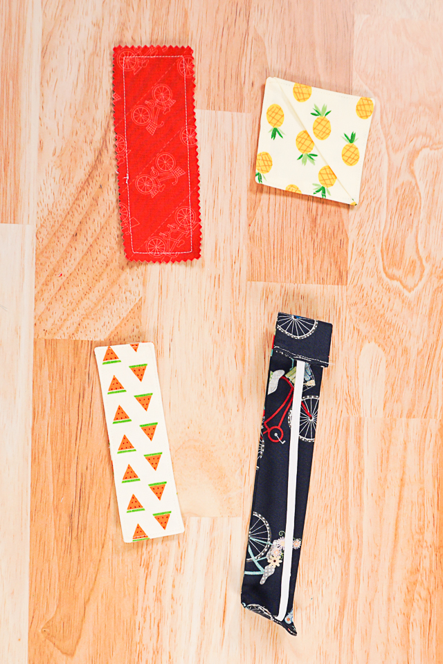 Sew 4 Easy Bookmarks with a Free Pattern