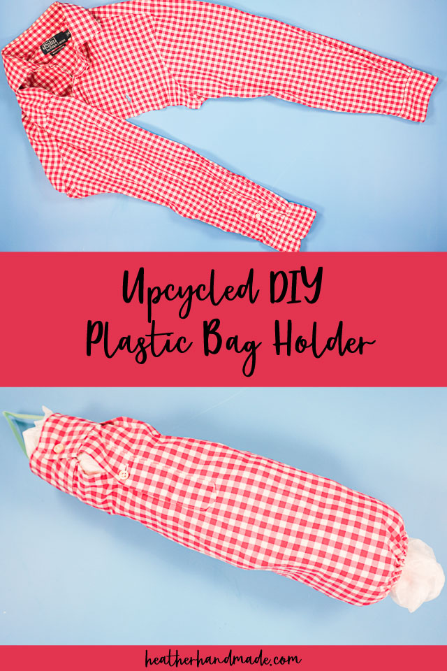 upcycled diy plastic bag holder