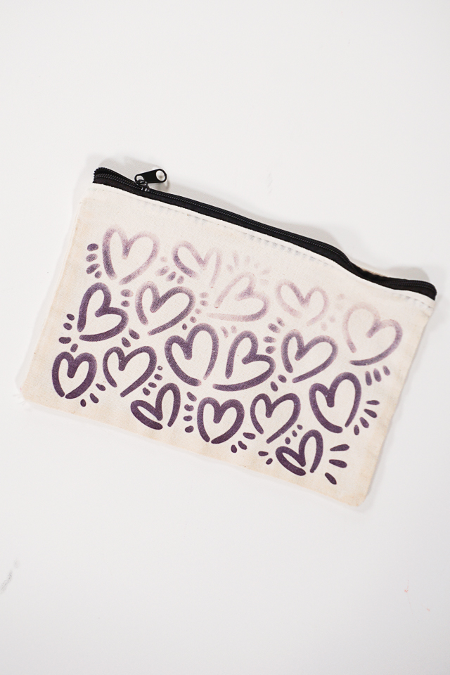 infusible ink and sublimation spray on makeup bag