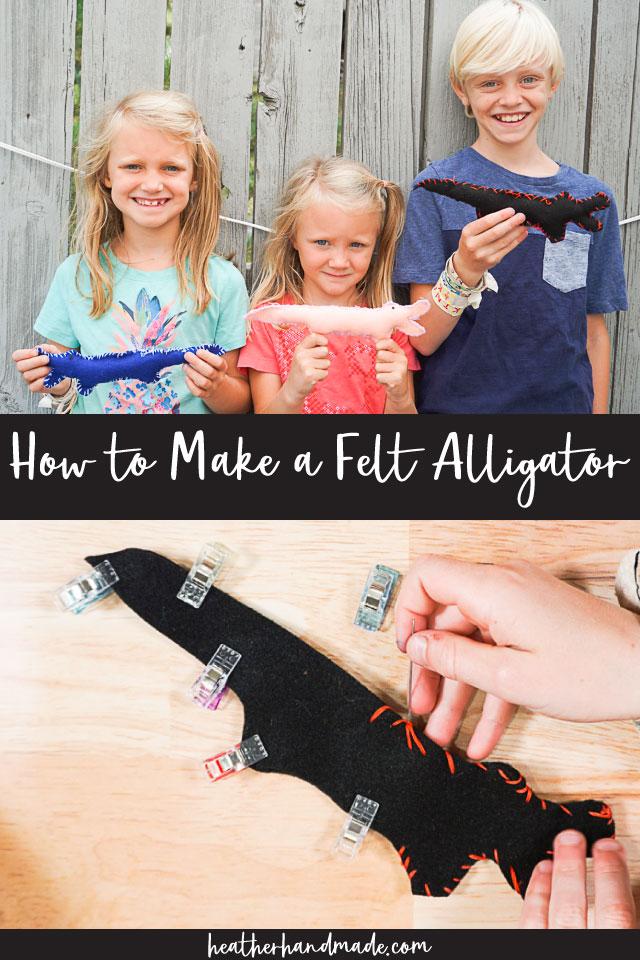 How to Make a Felt Alligator