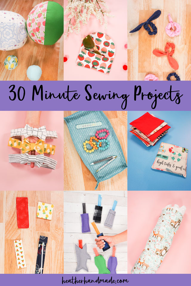 30 Minute Sewing Projects