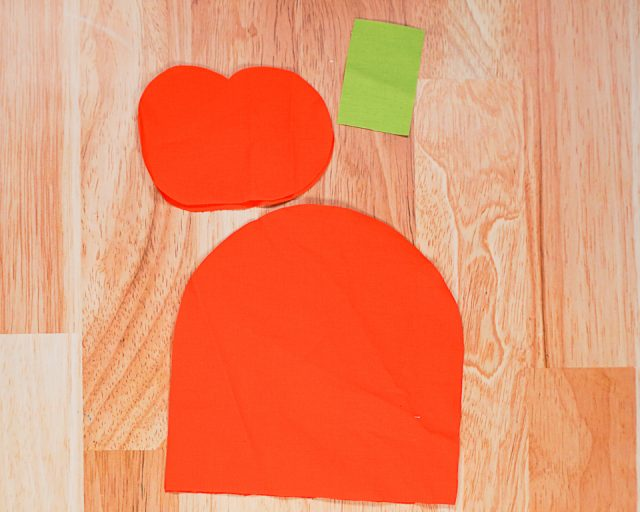 cut out two pattern pieces and one oval and rectangle