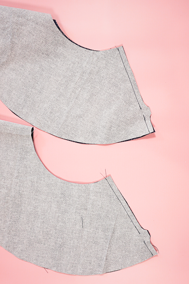sew side seams and leave hole