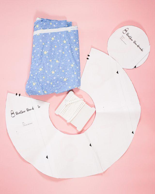 Free Circle Drawstring Bag Pattern supplies