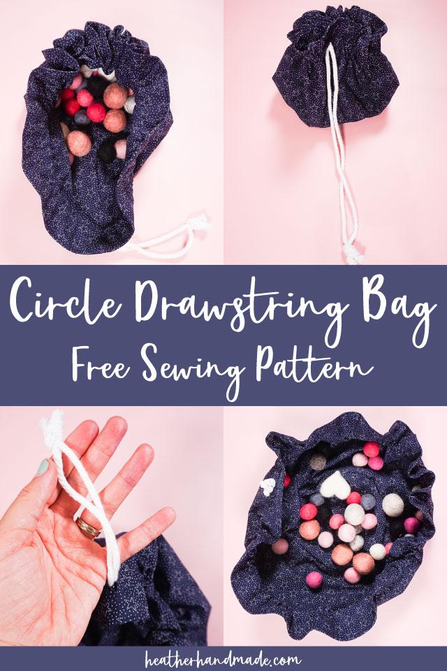 Free Circle Drawstring Bag Pattern