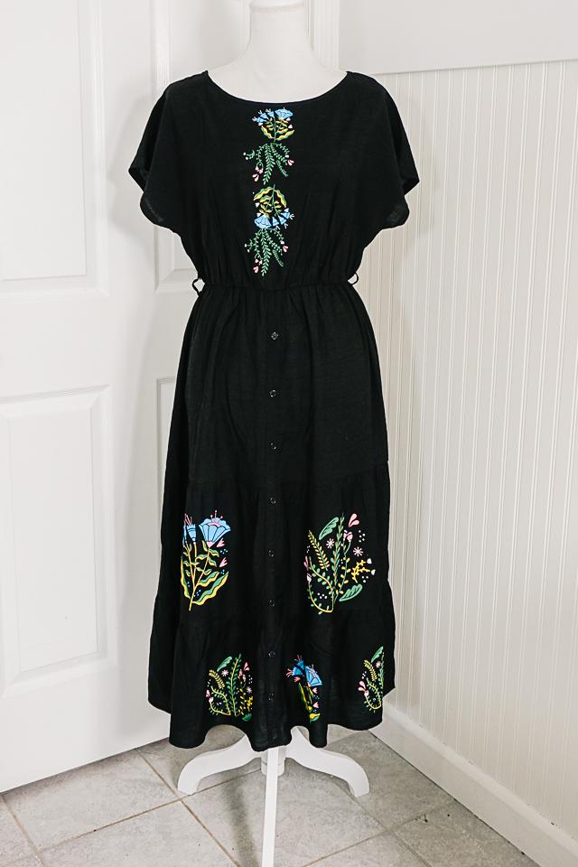 DIY Floral Iron-On Vinyl Dress