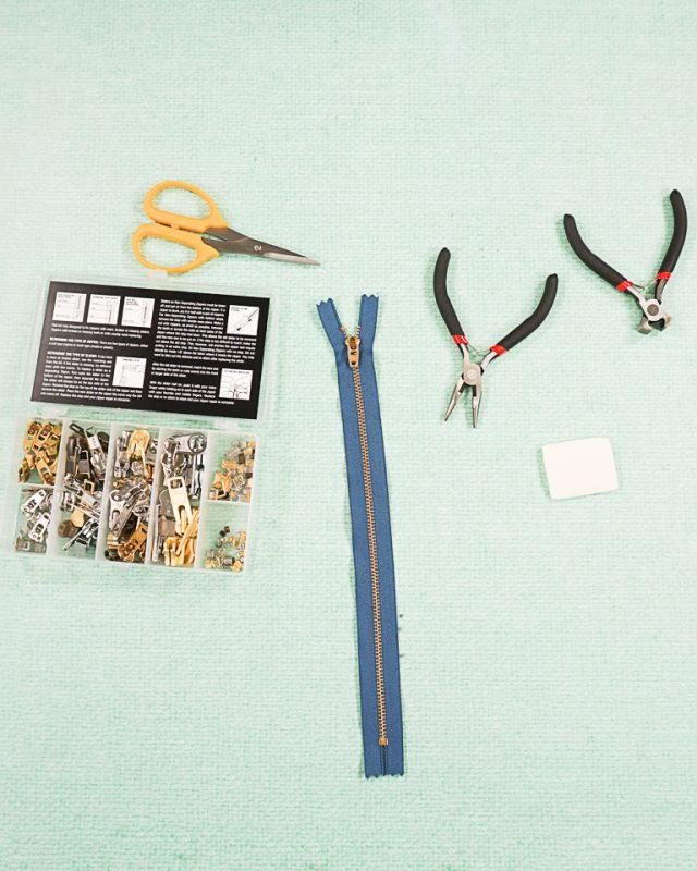 how to fix a metal zipper
