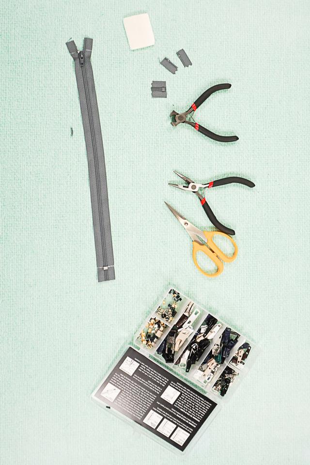 how to fix a plastic zipper