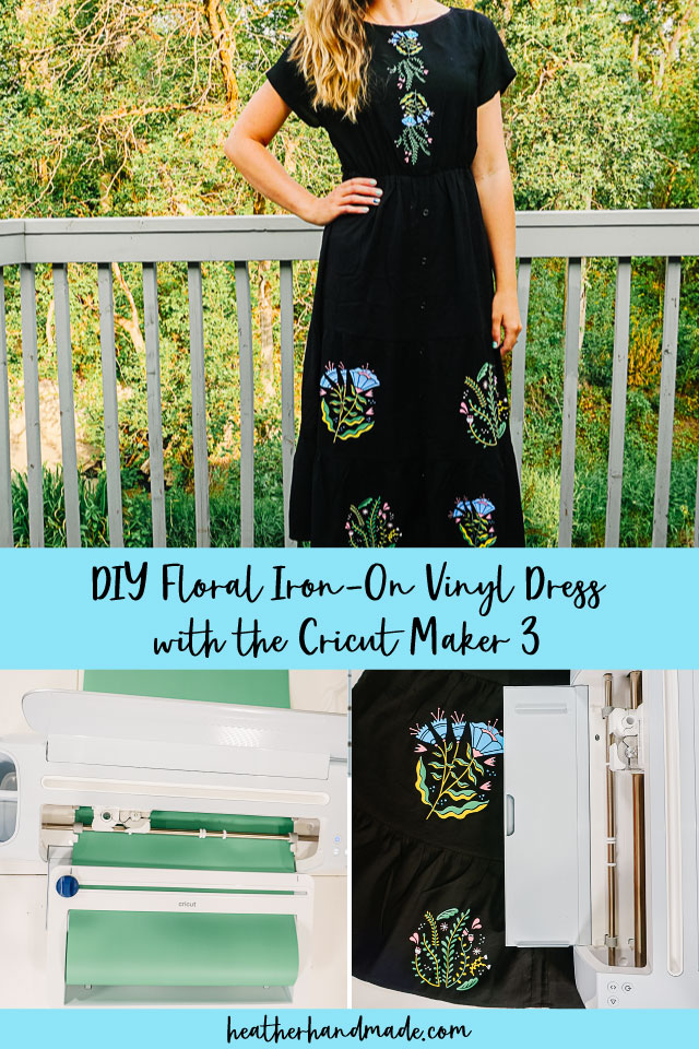 DIY Floral Iron-On Vinyl Dress with the Cricut Maker 3