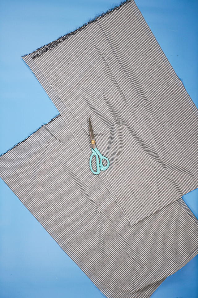 cut fabric in half lengthwise