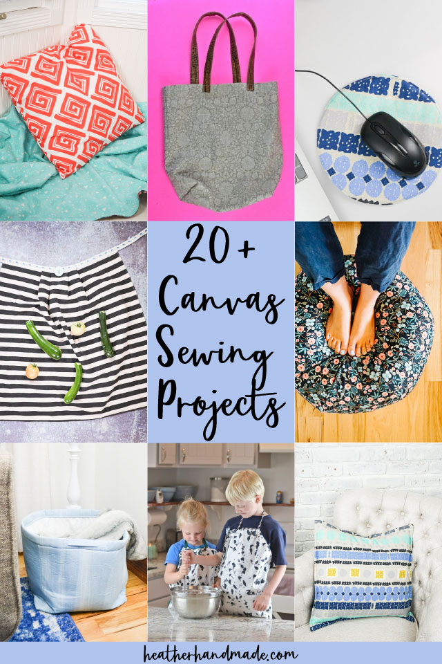 canvas sewing projects