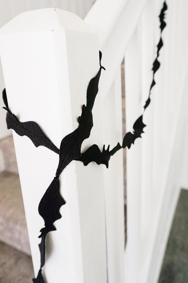 diy bat garland