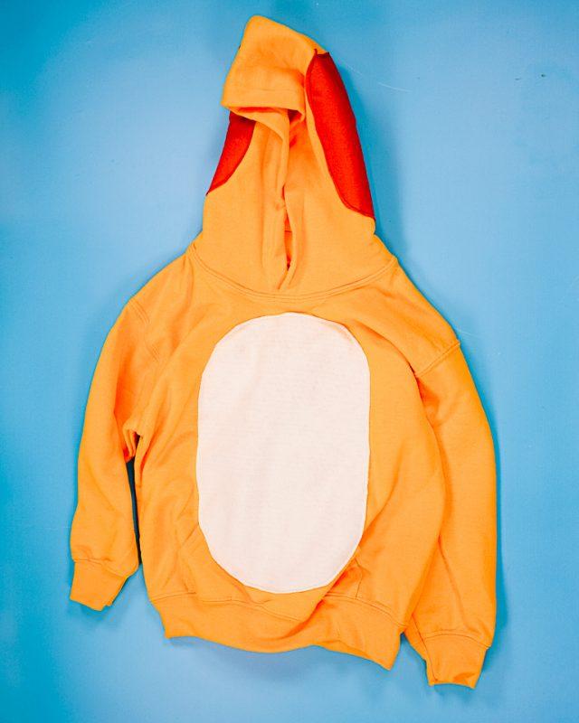sew the tummy onto the sweatshirt